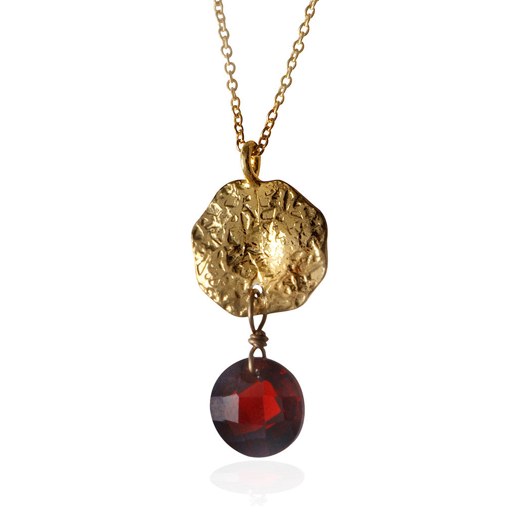 Coin and Garnet Necklace