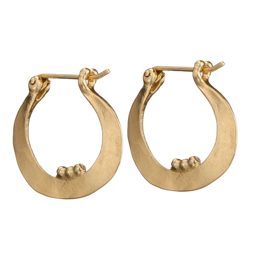 Gold Plated Harp Earrings