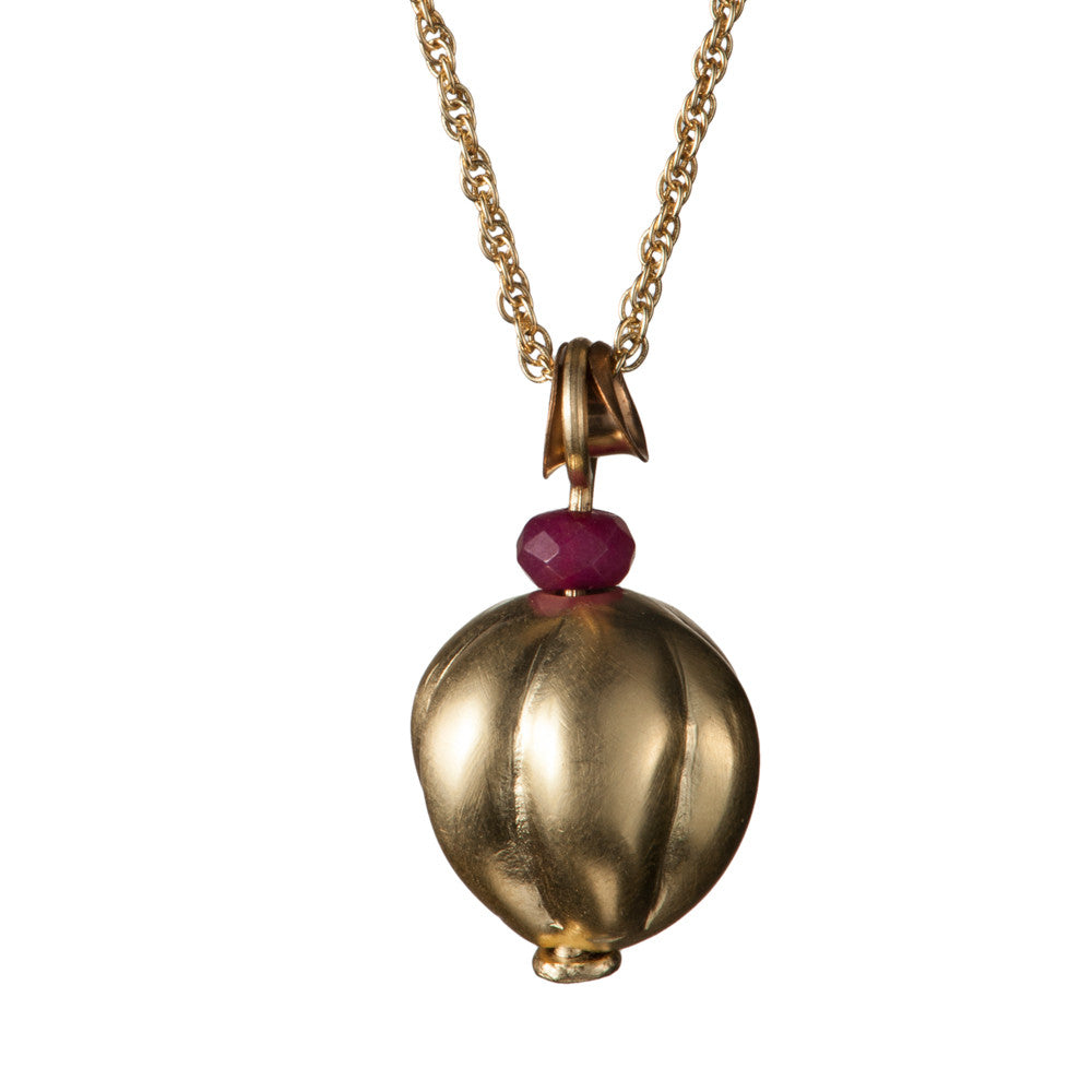 Pomegranate Bell Necklace