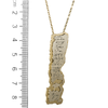 Silver on Gold Priestly Blessing Necklace
