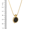Gold Pomegranate and Druzy Stone Necklace