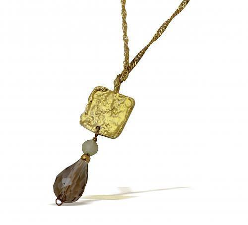 Gold Plated Necklace With Swarovski Stones
