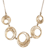 Bell Hoop Necklace with 5 Hoops
