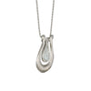 David's Harp Silver Roman Glass Necklace