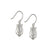 David's Harp Silver Drop Earrings