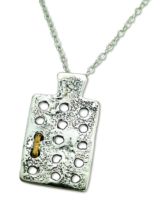 Silver & Brass Ancient Calendar Necklace
