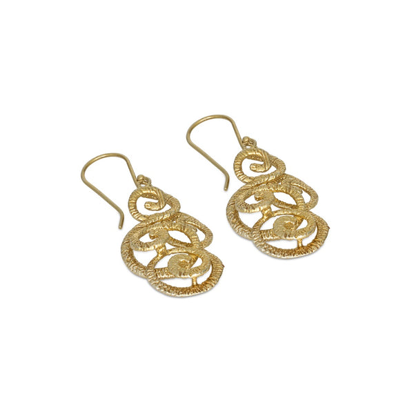 Golden Eternity Chandelier Earrings