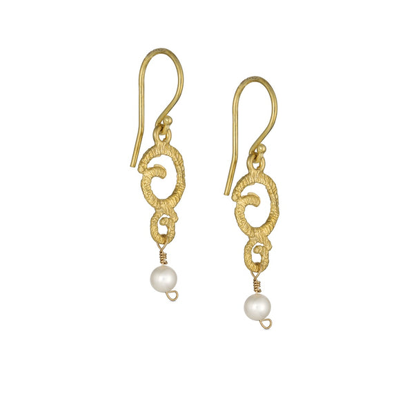 Golden Eternity Drop Earrings
