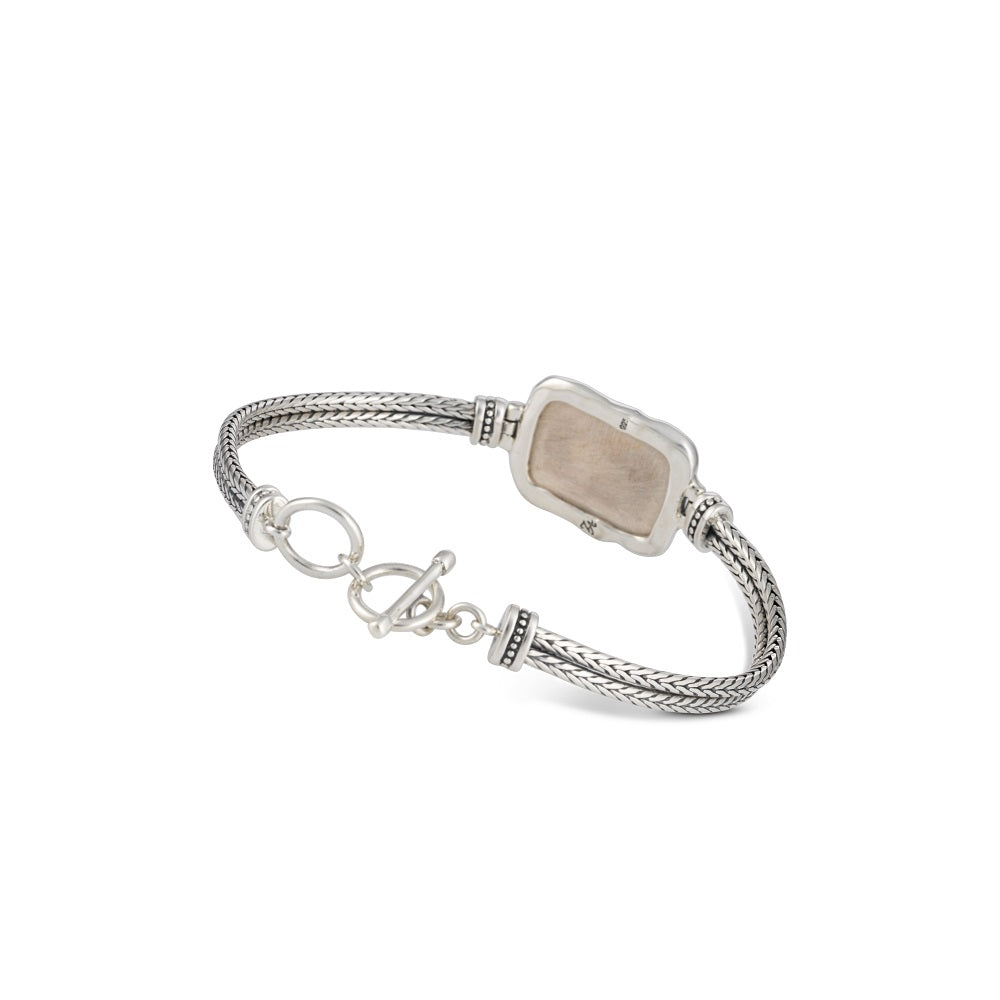 If I Forget Thee  Silver Bracelet with Jerusalem Stone