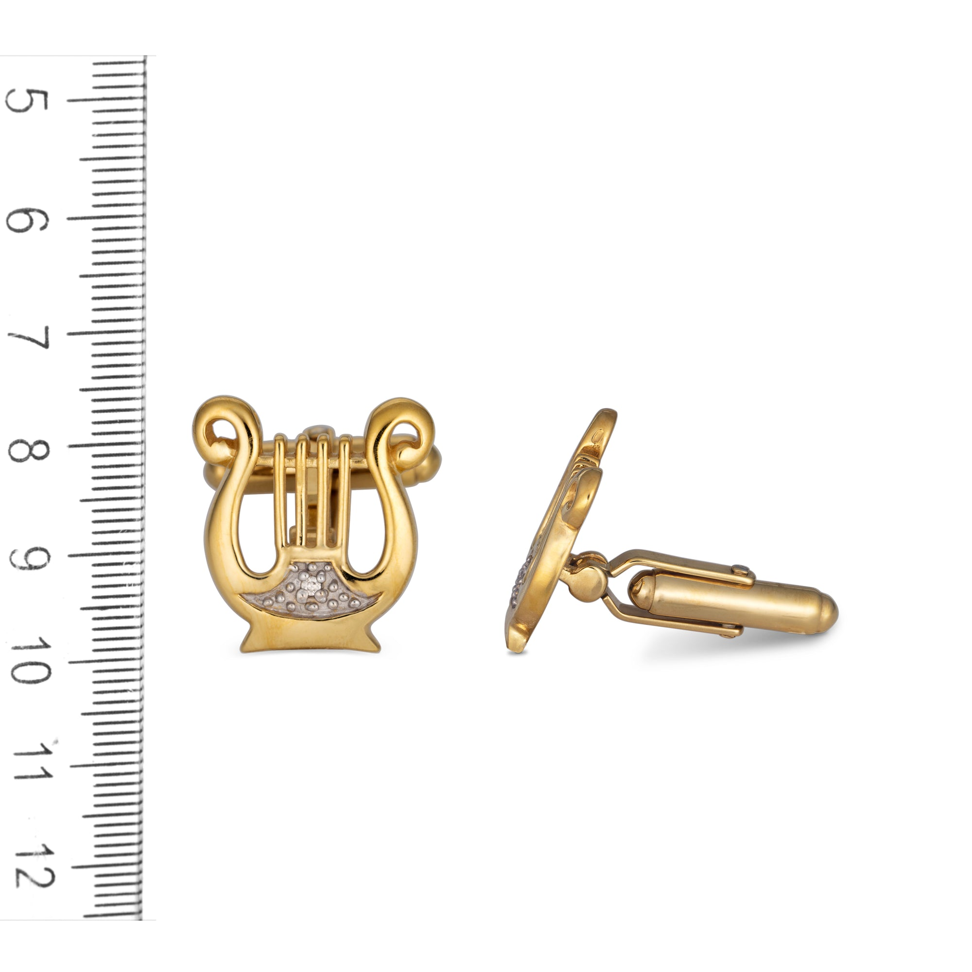 Silver and Gold Plated Harp of David Cufflinks
