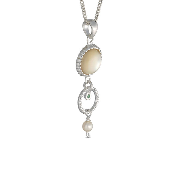 Queen Helene Silver Necklace with Pearl
