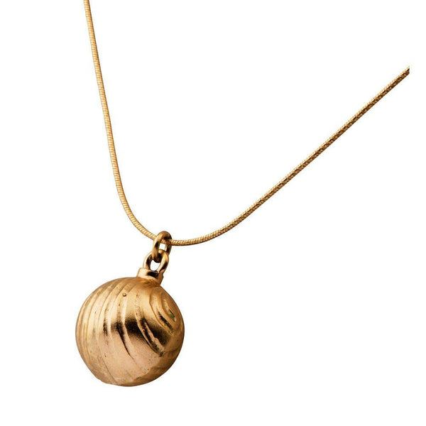 Necklace - 22K Gold Plated Bell Necklace