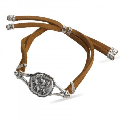 Pure for God Brown Leather Bracelet