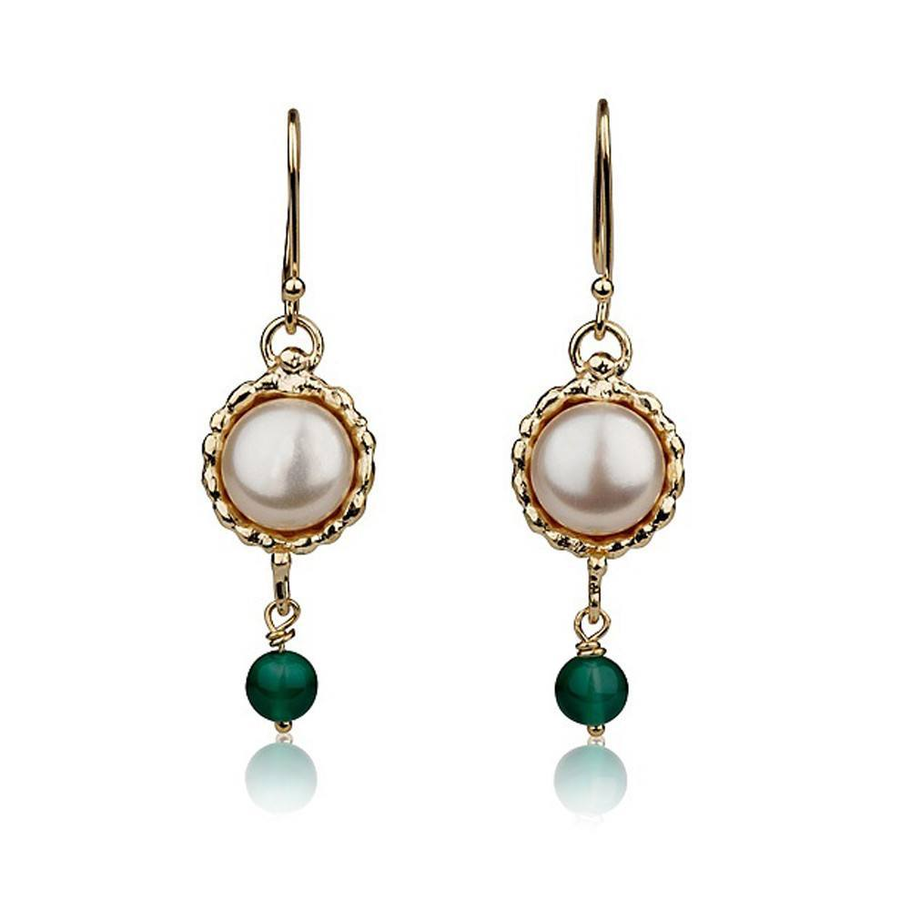 Queen Helene 9K Gold Drop Earrings.