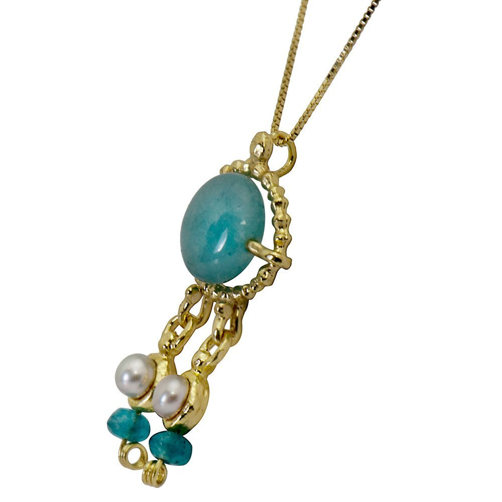 Queen Helene Aqua Quartz Necklace