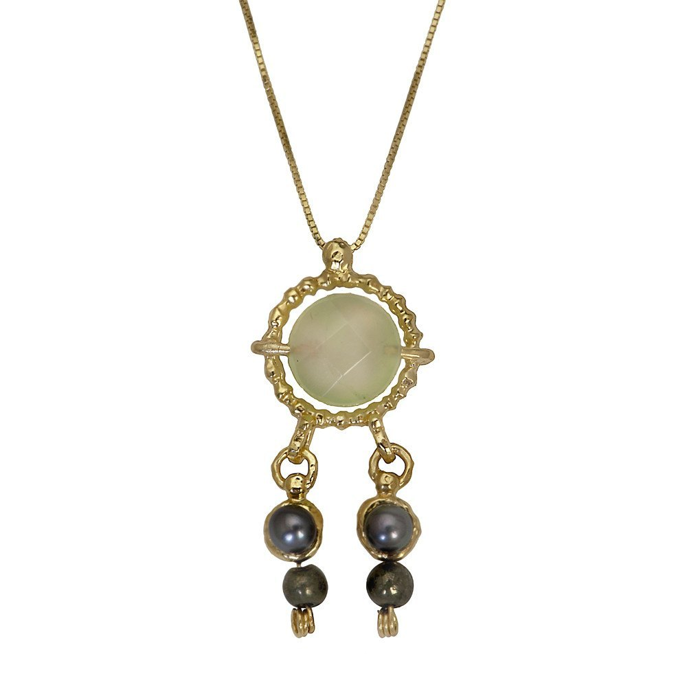 Queen Helene Pearl & Pyrite Necklace