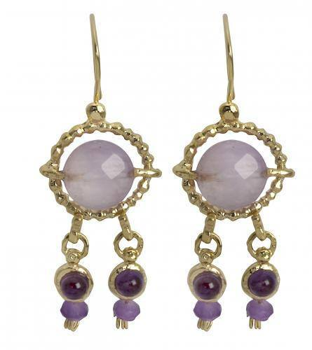 Queen Helene Purple Amethyst Earrings