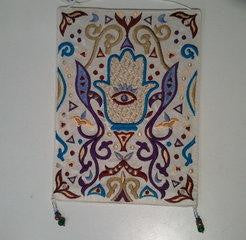 Hand Embroidered Wall Hanging (L)