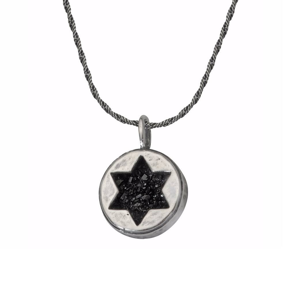 Star Of David Druzy Stone Necklace