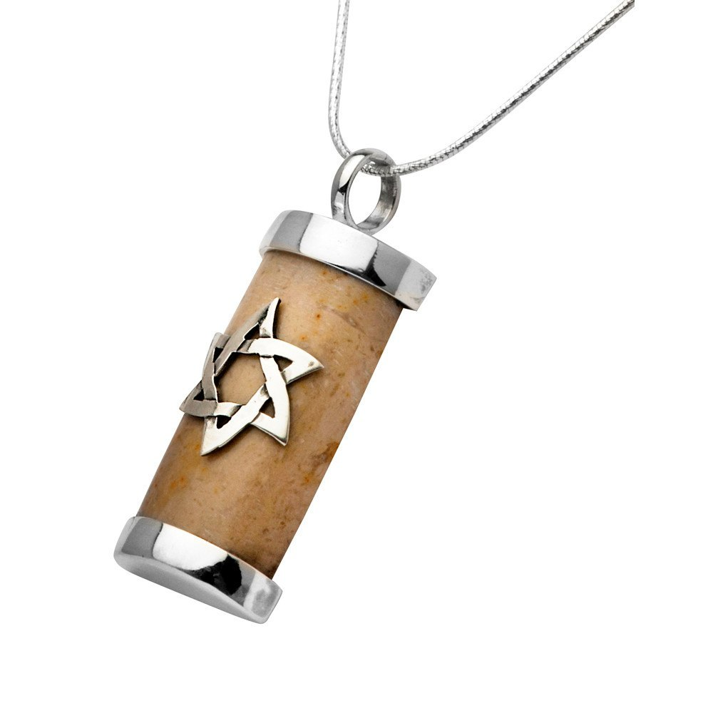 Temple Mount Necklace With Star Of David