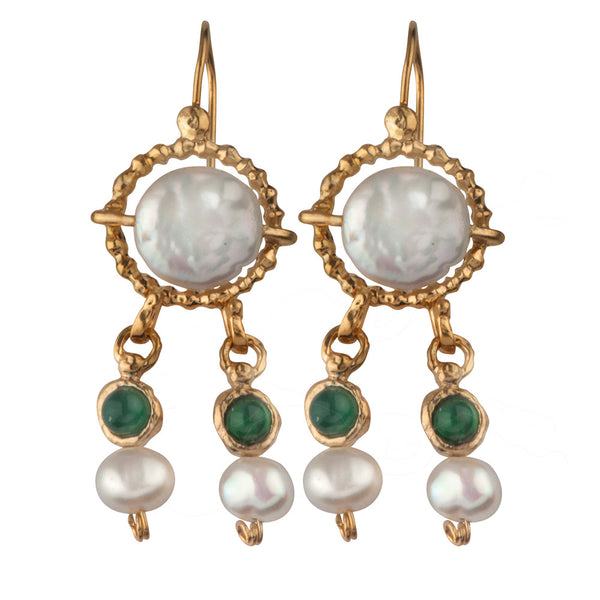 Queen Helene 14K Gold Dangling Earrings