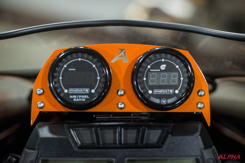 Alpha Sidewinder 2 Gauge Pod With Gauges Package for Yamaha Sidewinder and Artic Cat Thundercat