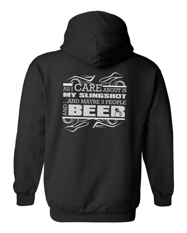 "Alpha Powersport ""All I Care About Is My BEER"" Pull Over Hoodie"