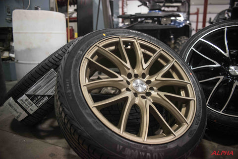 Multi Spoke Bronze Wheels and Tires Package