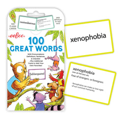 100 Great Words Flashcards by Eeboo, Dragonflytoys