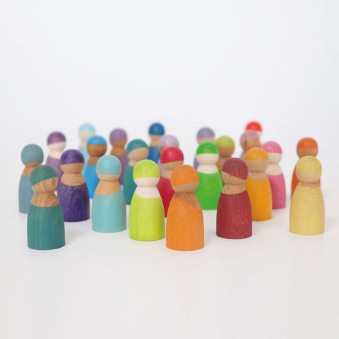 12 Rainbow Friends by Grimms Dragonflytoys
