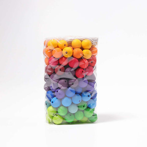Grimms Rainbow Wooden Beads 20mm x 180 Beads