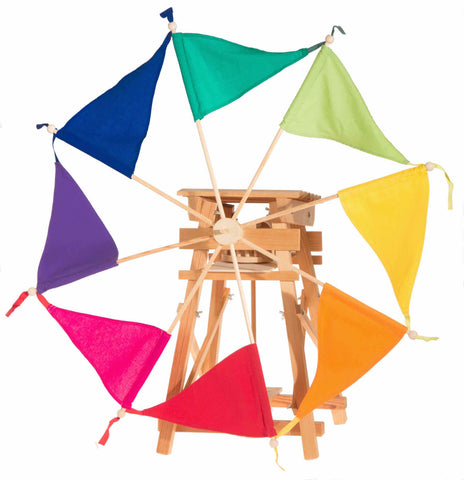 Kraul sail windmill kit with rainbow sails
