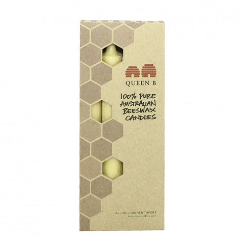Pack of 4 Pure Beeswax Candles