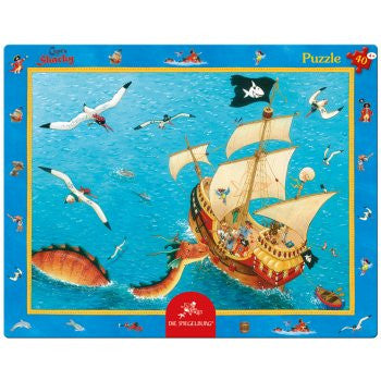 Pirate ship frame puzzle