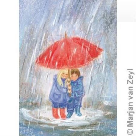 Below mother's umbrella postcard, Dragonflytoys
