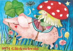 Kraul postcards lucki pig