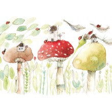 Greeting Card - Anna Pignataro - Mushroom houses