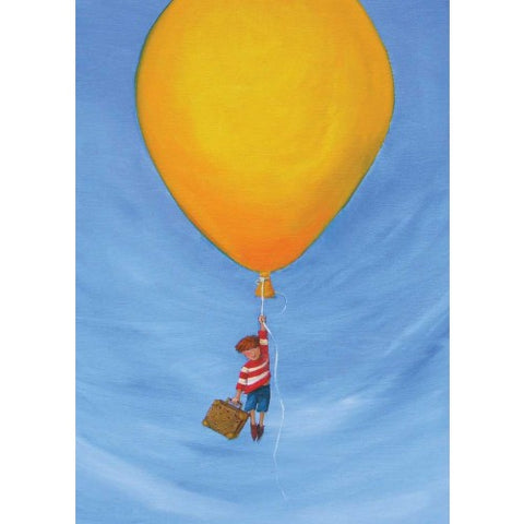 Greeting Card - Yellow Balloon AWHITE 13
