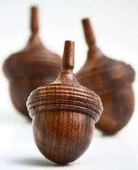 Acorn Wooden Spinning Tops