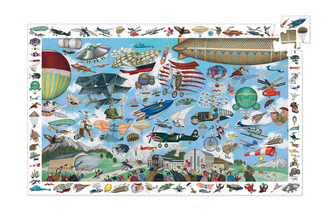 Aeronautical Club 200 Pieces Observation Puzzle by Djeco, Dragonflytoys