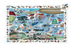 Aeronautical Club 200 Pieces Observation Puzzle by Djeco