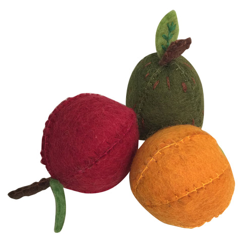 Apple Pear Orange Play Food by Papoose, Dragonflytoys
