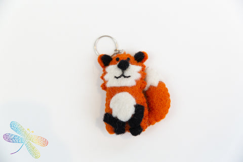 Wool Felt Key Ring Fox, Dragonfly toys