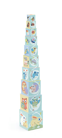 Stacking Cubes Baby Animals Baby Blocki by Djeco