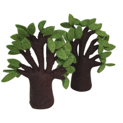 Baobab Felt Trees set of 2, Dragonflytoys