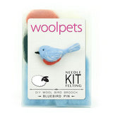 Woolpets Bluebird Brooch/Pin Felting Kit