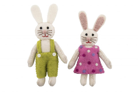 Bunny Rabbit Doll made with Natural Wool Felt