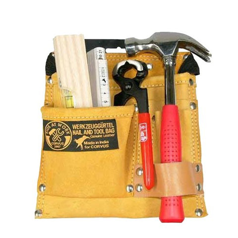 Builder Tool Set with Leather Tool Belt with Tools by Kids at Work