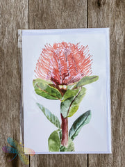 Greeting Card - Waratah Red