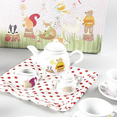 Woodland Animal Ceramic Tea Set 15 Pc by Floss & Rock